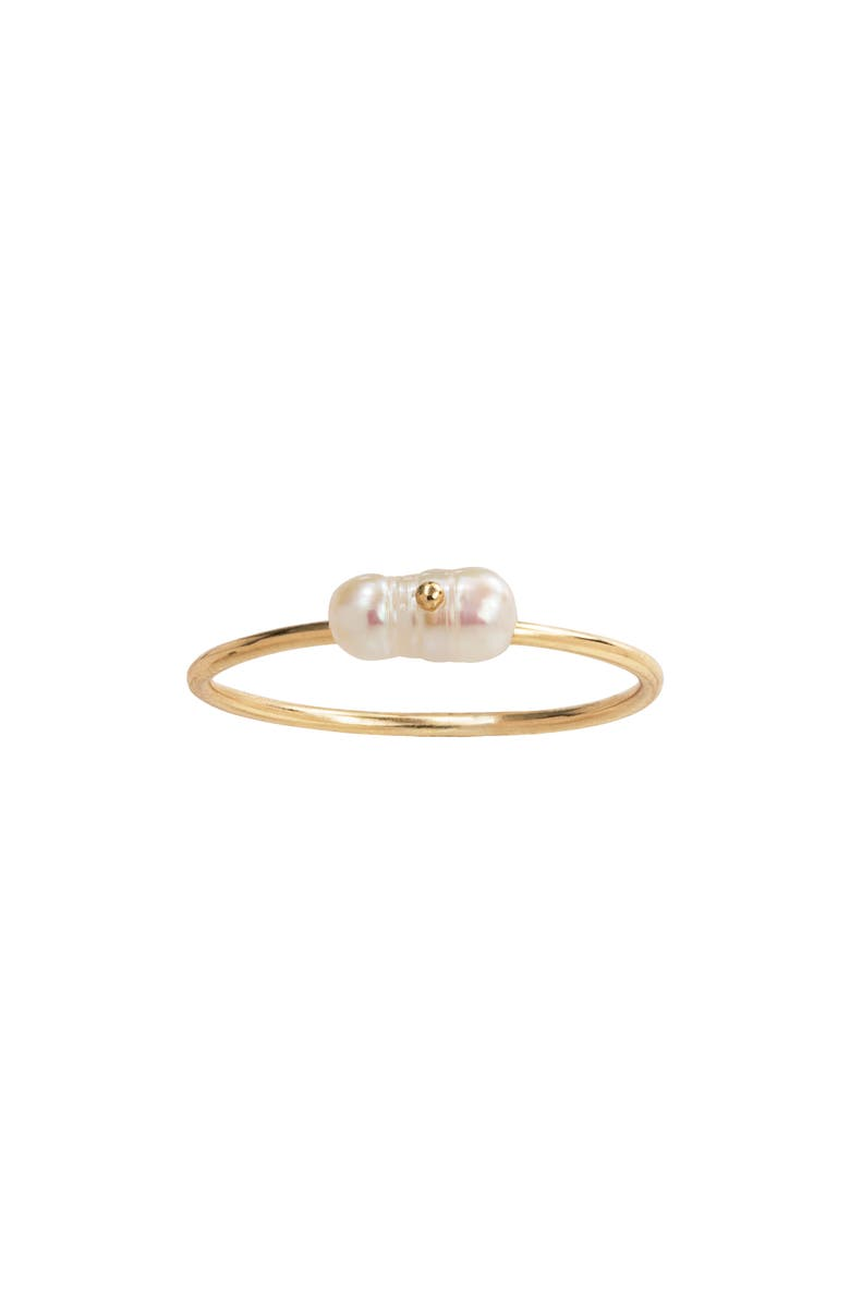 WWAKE Irregular Pearl Ring, Main, color, YELLOW GOLD/ PEARL