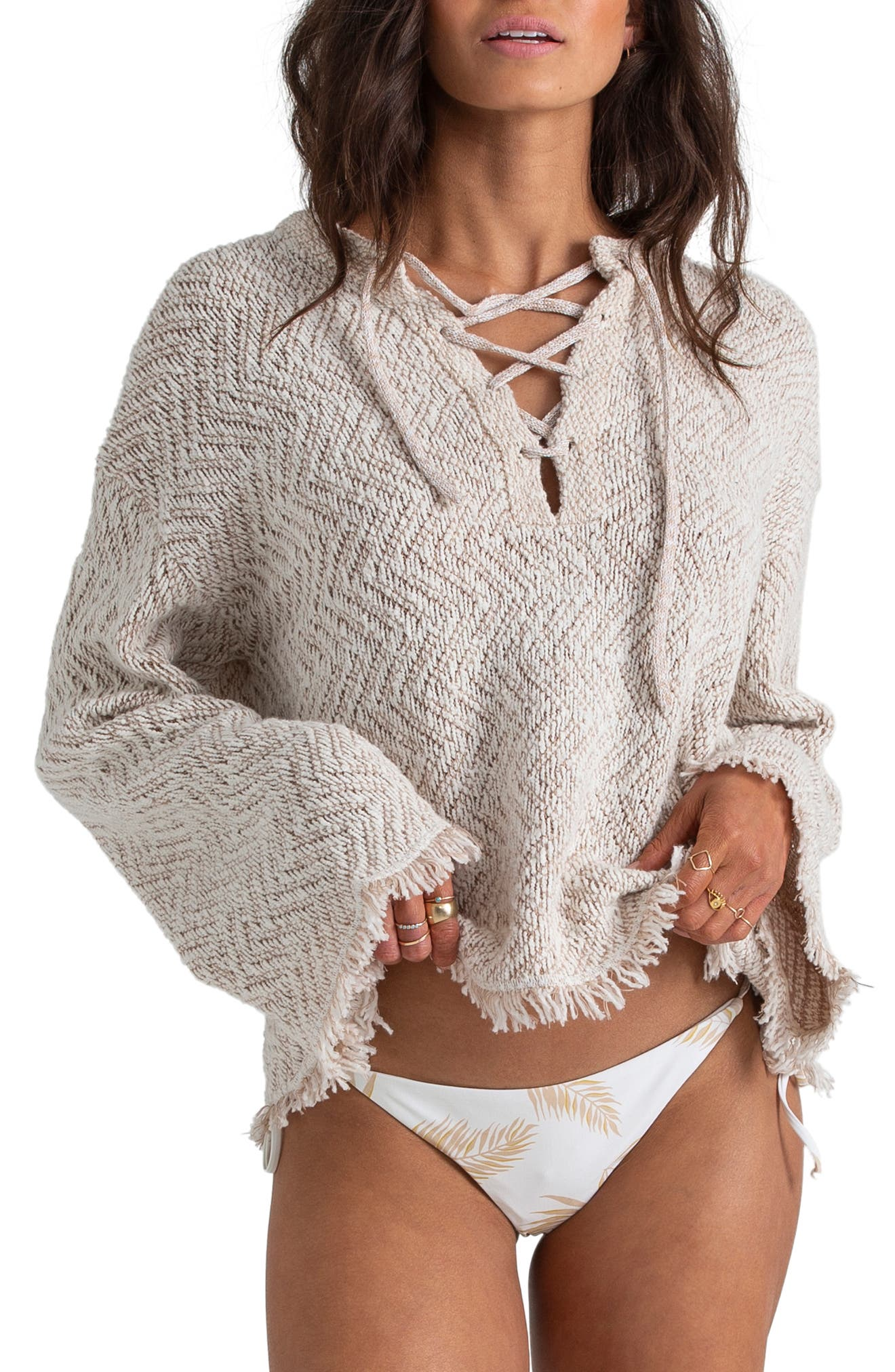 x Sincerely Jules Palm for Days Sweater, Main, color, WHITE CAP