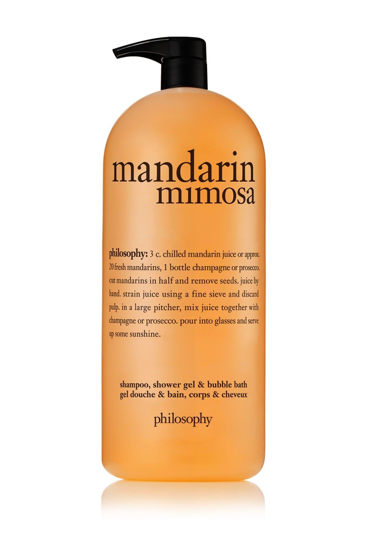 Image of philosophy Mandarin Mimosa Shower Gel - 64oz