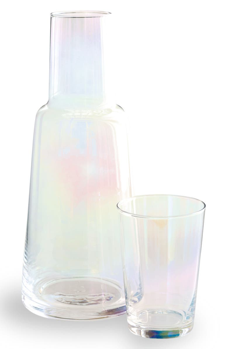 ROSANNA Iridescent Glass Carafe & Cup, Main, color, 100
