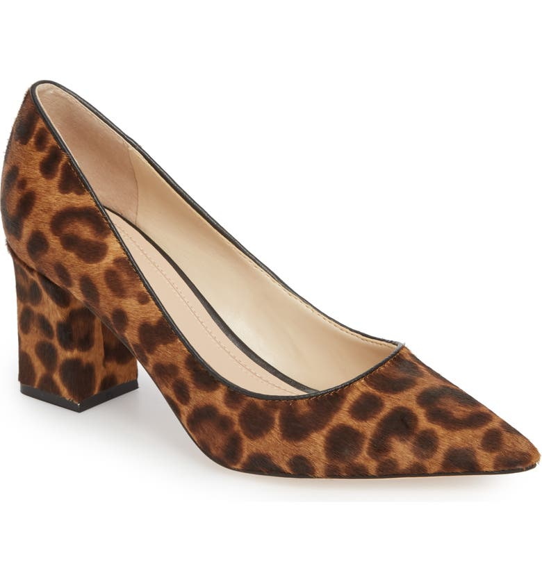MARC FISHER LTD Zalaly Genuine Calf Hair Pump, Main, color, LEOPARD CALF HAIR
