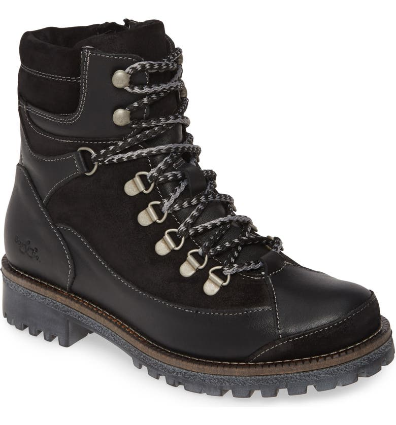 BOS. & CO. Cooper Waterproof Hiking Boot, Main, color, BLACK LEATHER