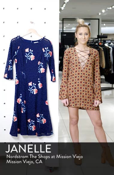 Embroidery & Lace A-Line Dress, sales video thumbnail