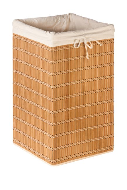 Image of Honey-Can-Do Square Bamboo Wicker Hamper