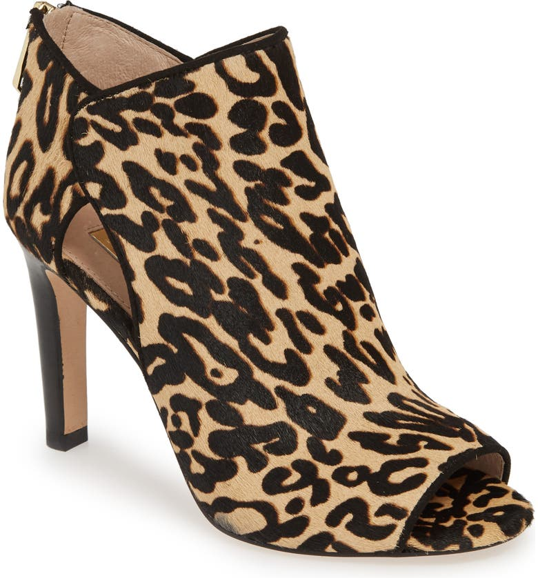 LOUISE ET CIE Ilsabelle Open Toe Bootie, Main, color, LEOPARD PRINT