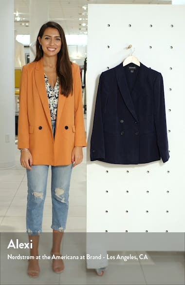 Drapey Double Breasted Blazer, sales video thumbnail