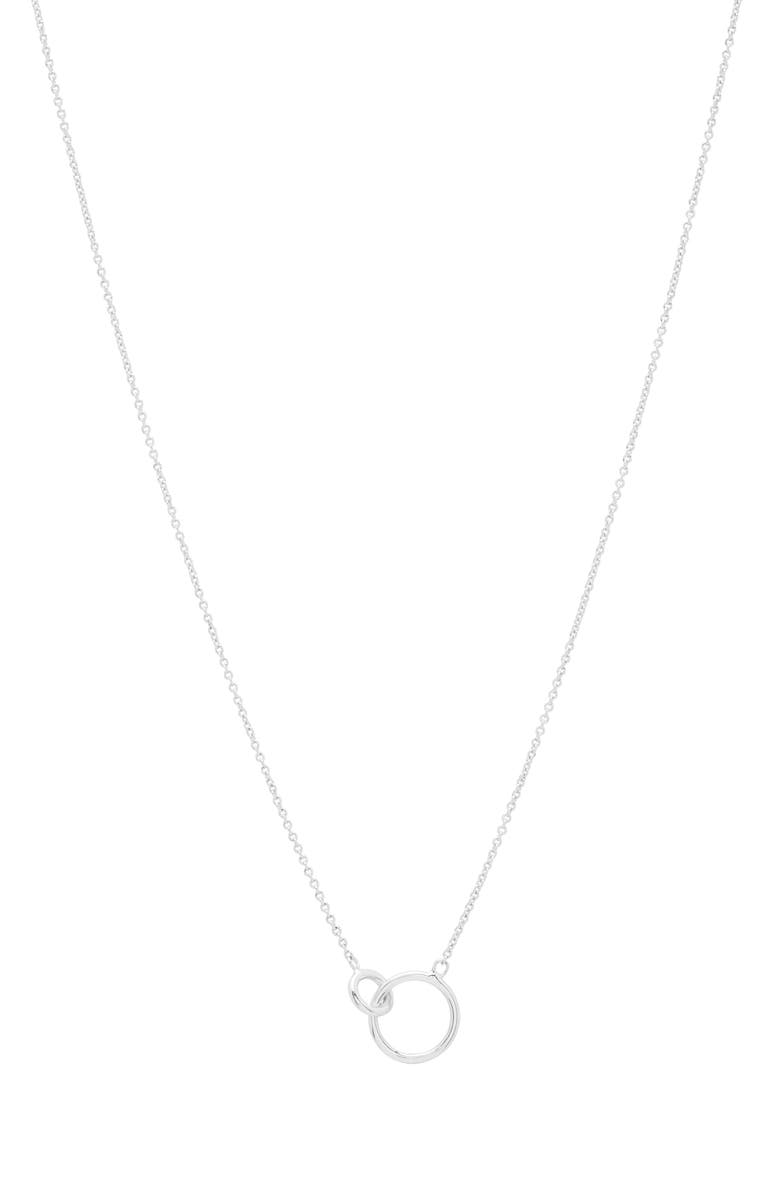 GORJANA Wilshire Connected Loop Necklace, Main, color, SILVER