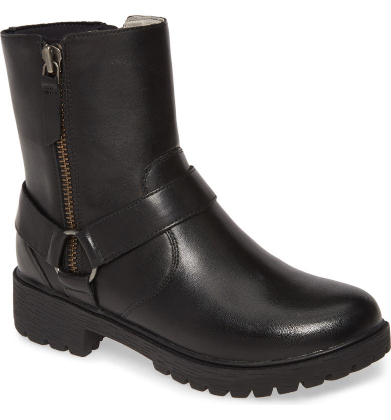 ALEGRIA Water Resistant Boot, Main, color, CRAZYHORSE BLACK LEATHER