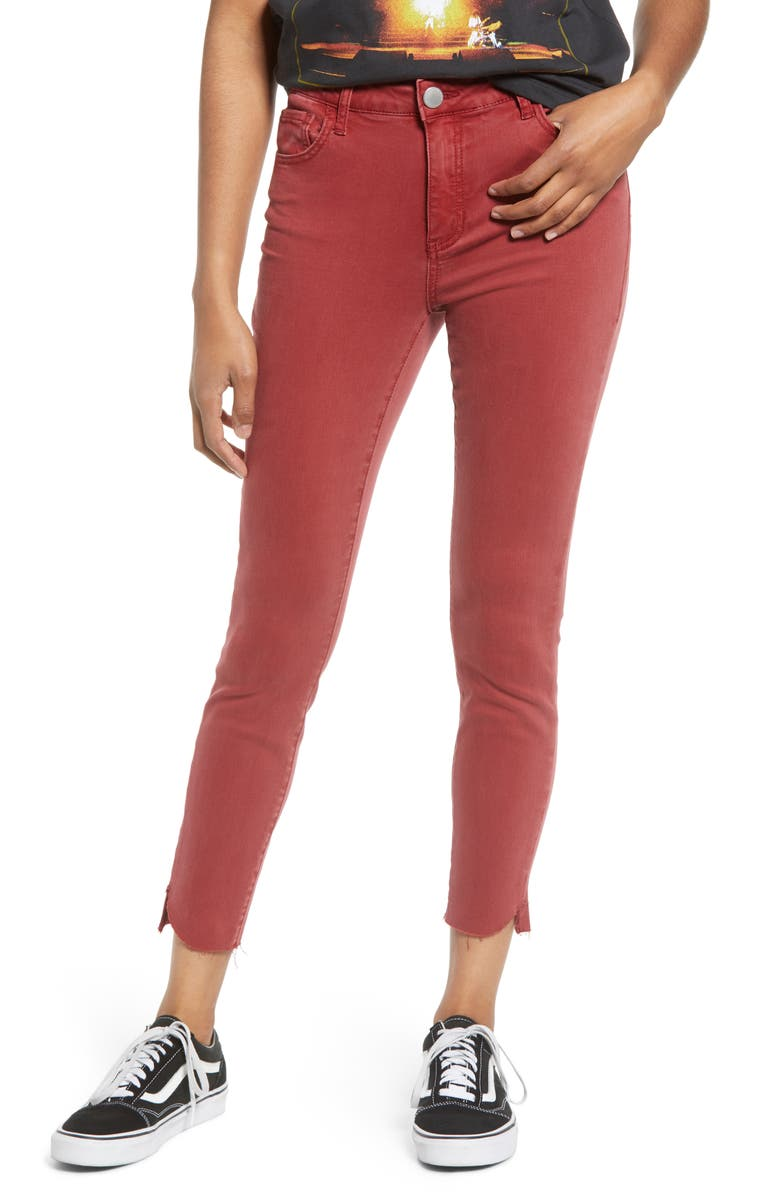 PROSPERITY DENIM Kate Straight Leg Crop Jeggings, Main, color, RED PEAR