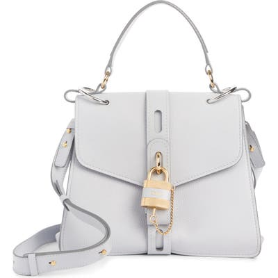 Chloe Aby Medium Leather Shoulder Bag - White