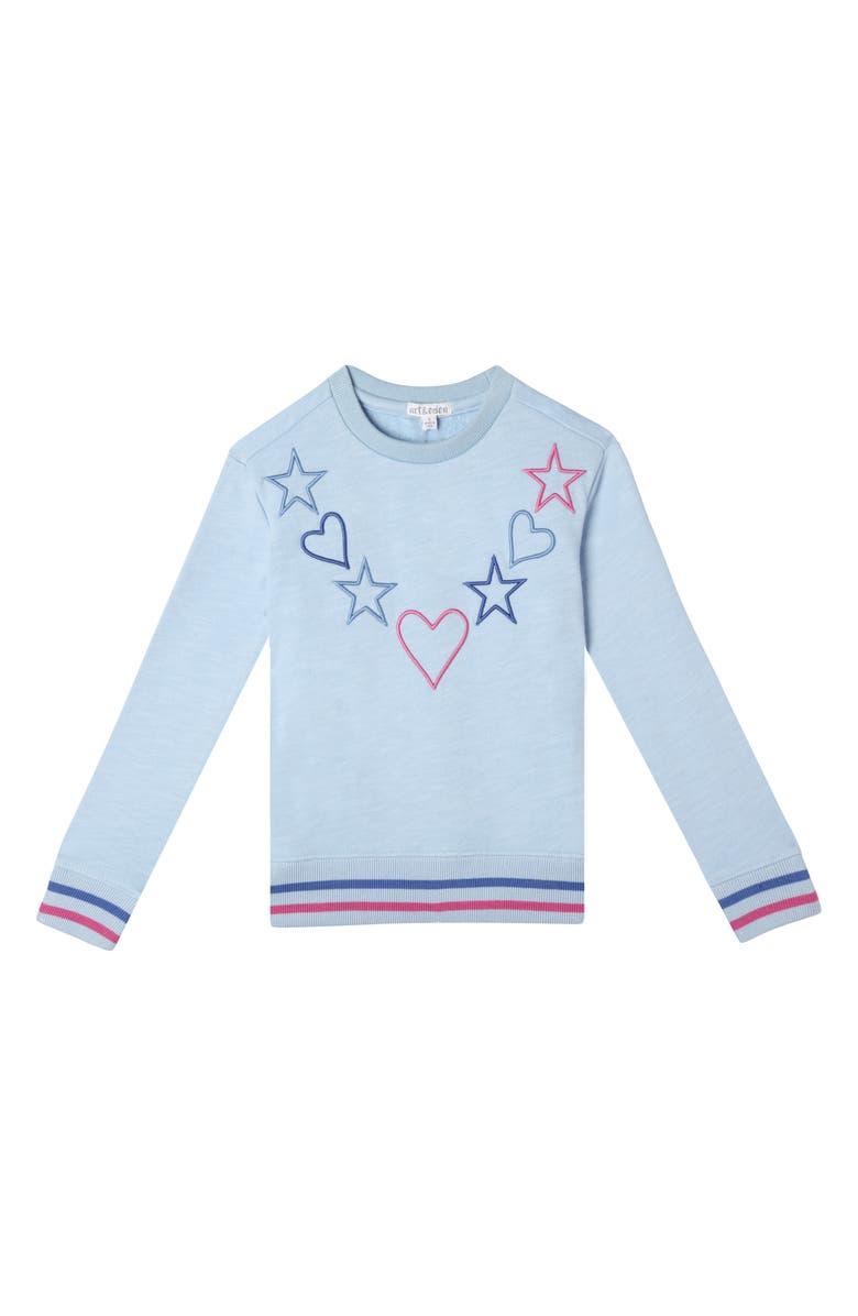 ART & EDEN Felice Sweatshirt, Main, color, BLUE FAIRY DUST