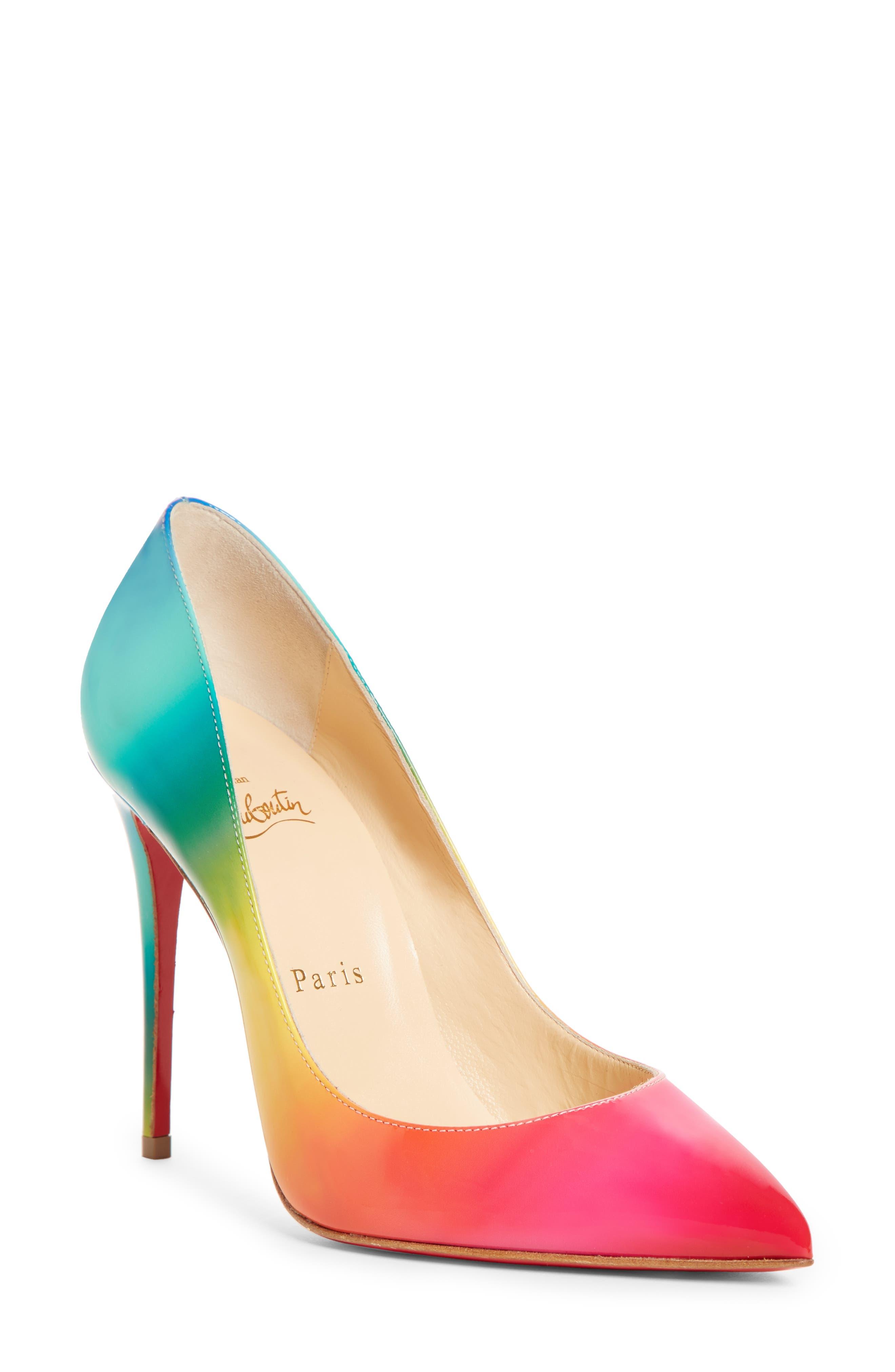 Christian Louboutin Pigalle Follies Rainbow Pump, Pink