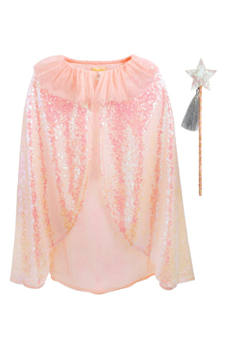 MERI MERI Sequin Cape & Wand Set, Main, color, 100