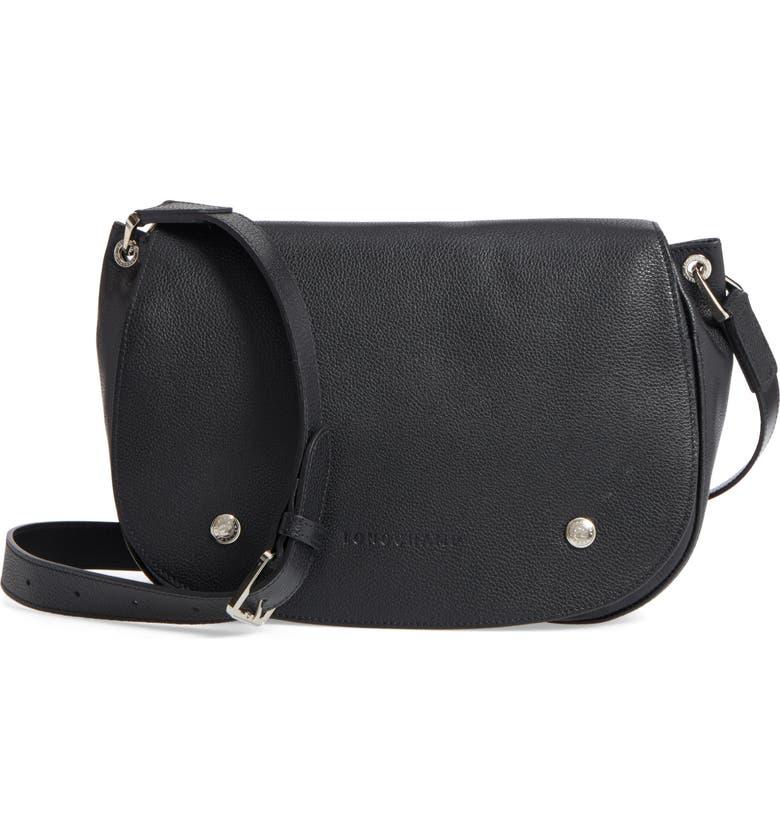 Small Le Foulonne Leather Saddle Bag