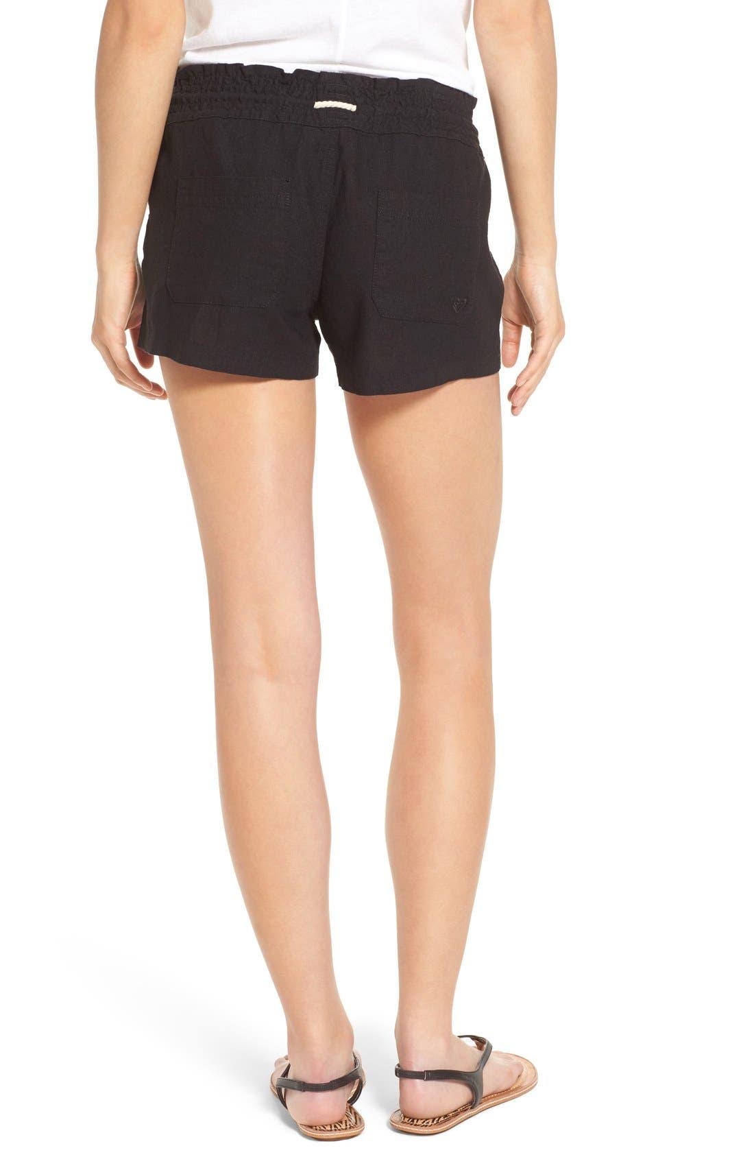 ,                             'Oceanside' Linen Blend Shorts,                             Alternate thumbnail 12, color,                             001