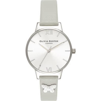 Olivia Burton Embellished Leather Strap Watch, 30Mm