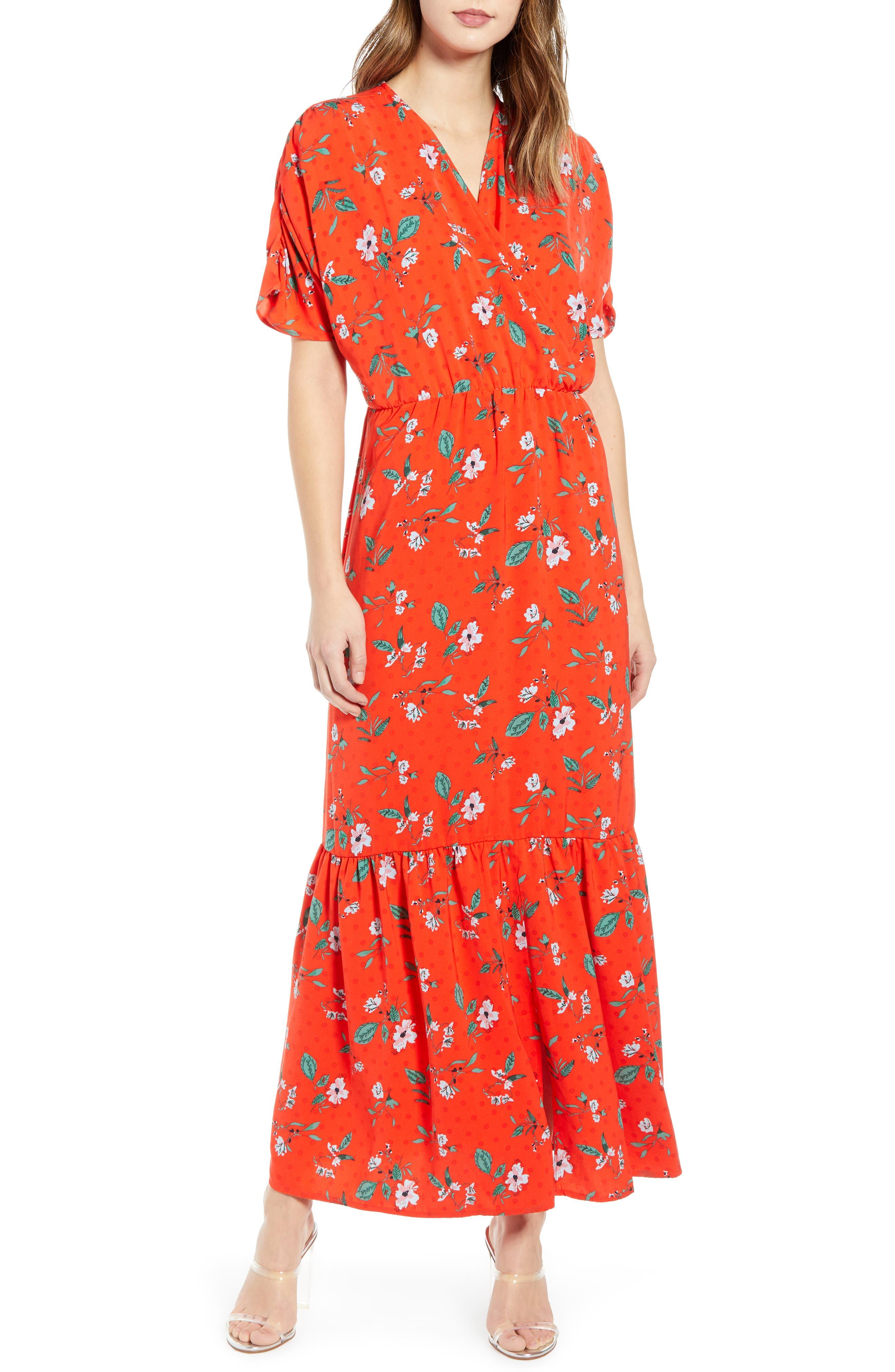 Vero Moda Ava Maxi Dress, Red