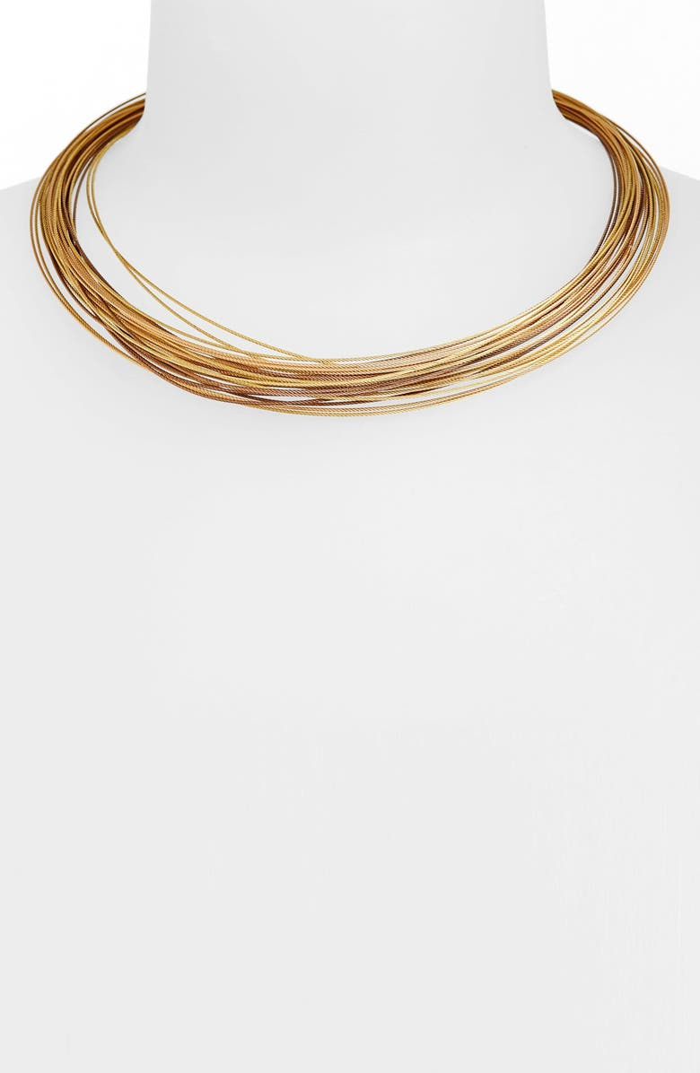 ALOR<SUP>®</SUP> 24-Row Cable Collar Necklace, Main, color, 040