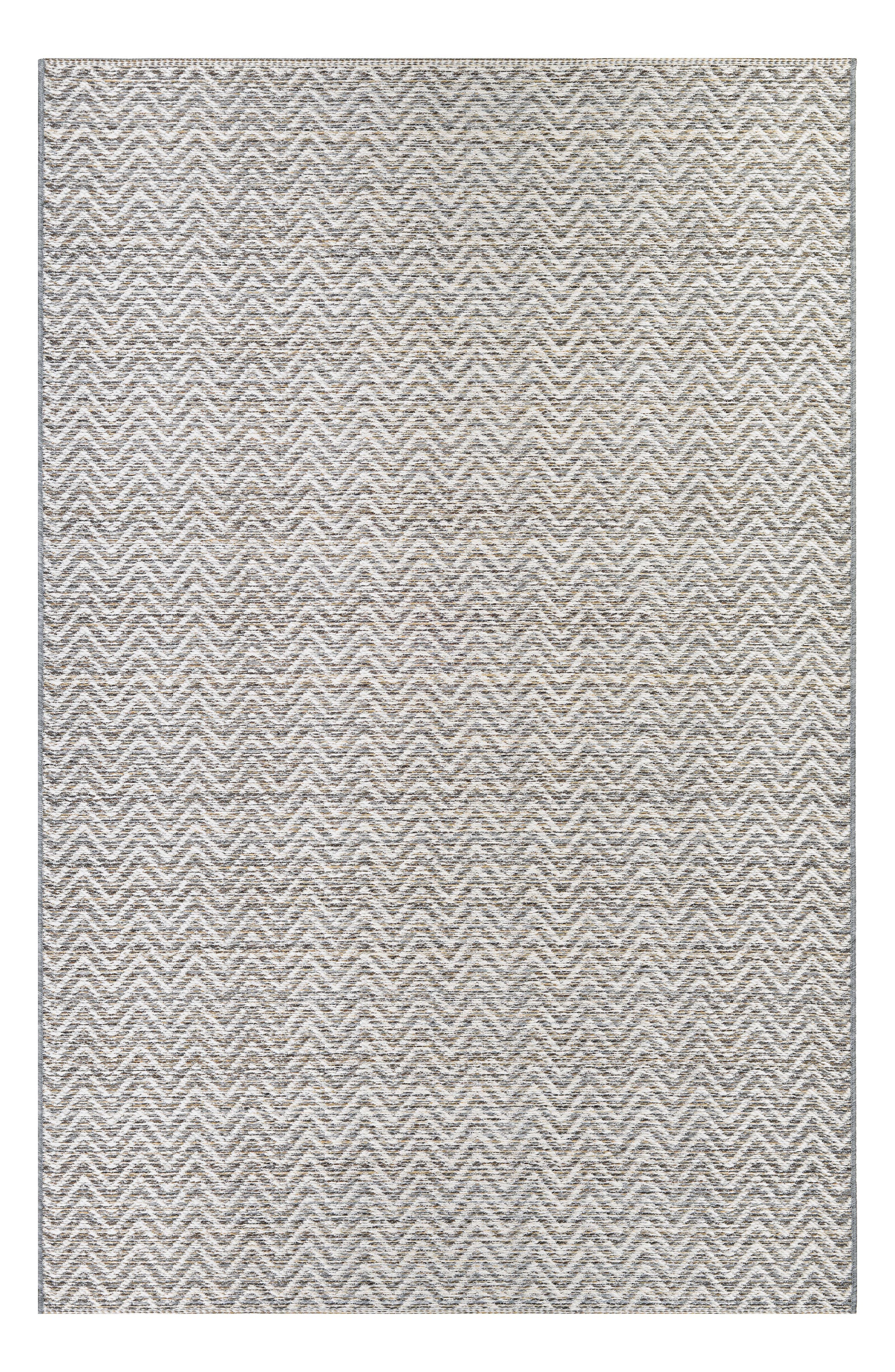 Refine any indoor or outdoor space with a sophisticated yet durable rug featuring woven construction and subtle chevron patterns. Style Name: Couristan Marion Indoor/outdoor Rug. Style Number: 5368354. Available in stores.