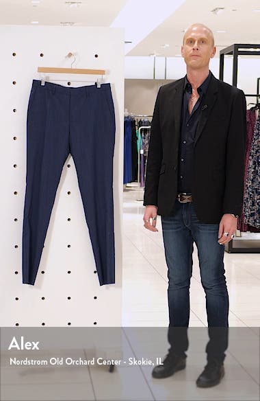 Genius Flat Front Twill Wool Trousers, sales video thumbnail