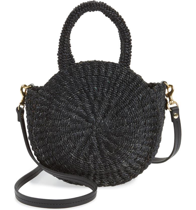 CLARE V. Petite Alice Straw Bag, Main, color, 001