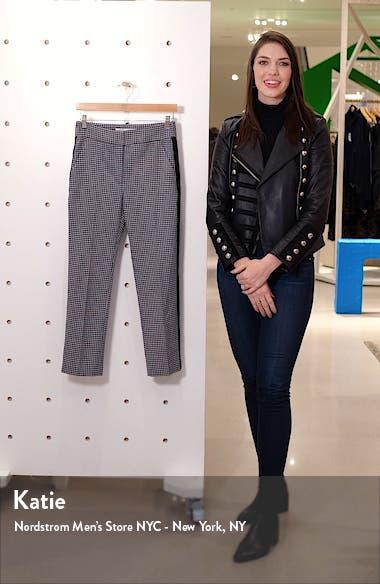 Gemini Gingham Tuxedo Stripe Crop Pants, sales video thumbnail