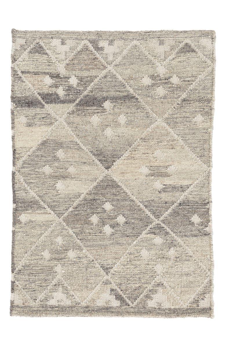 DASH & ALBERT Kota Woven Wool & Cotton Rug, Main, color, NEUTRAL