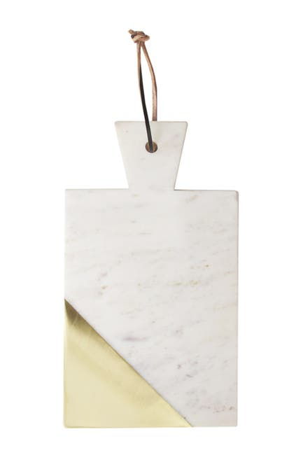 Image of Jay Import White/Gold Marble Rectangle Board