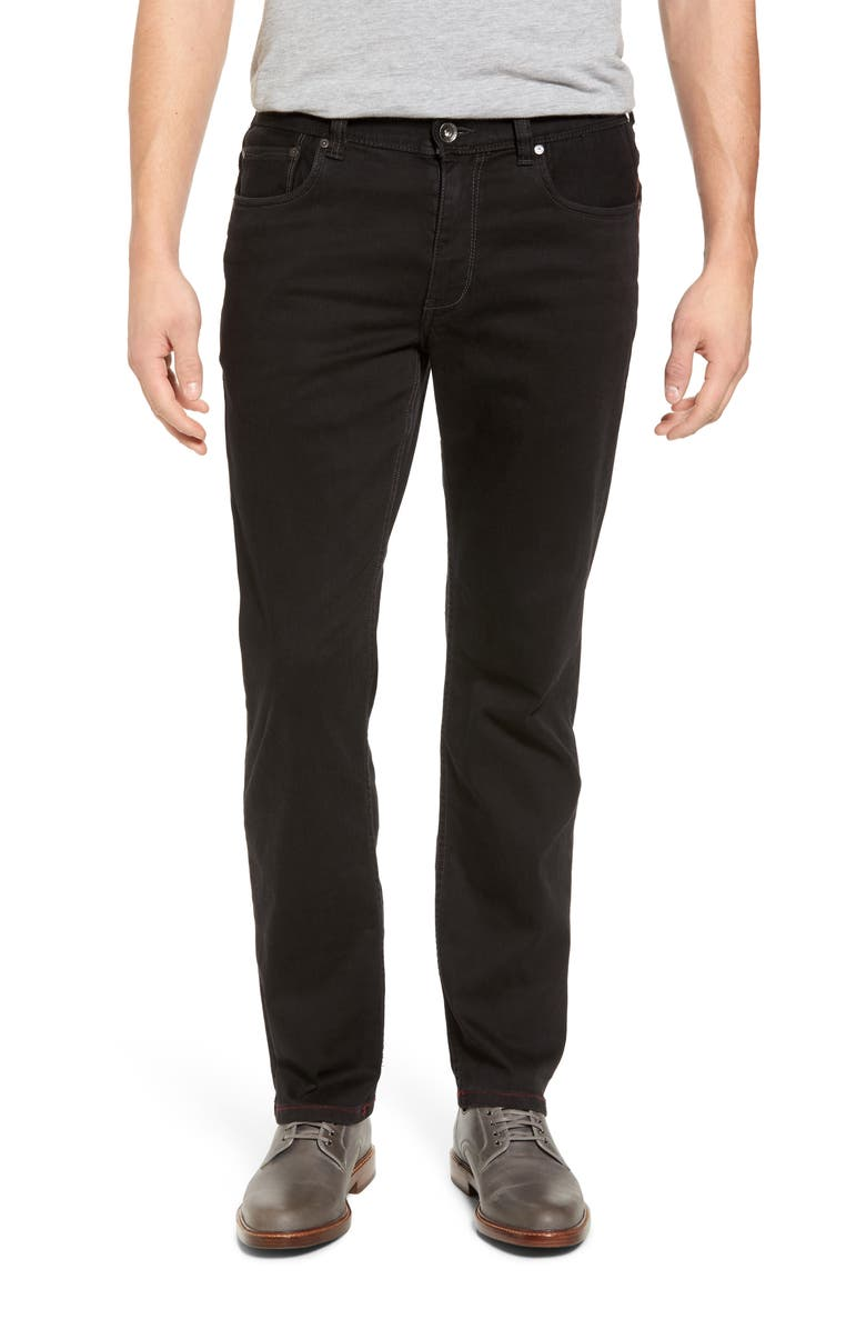TOMMY BAHAMA Sand Straight Leg Jeans, Main, color, BLACK OVERDYE