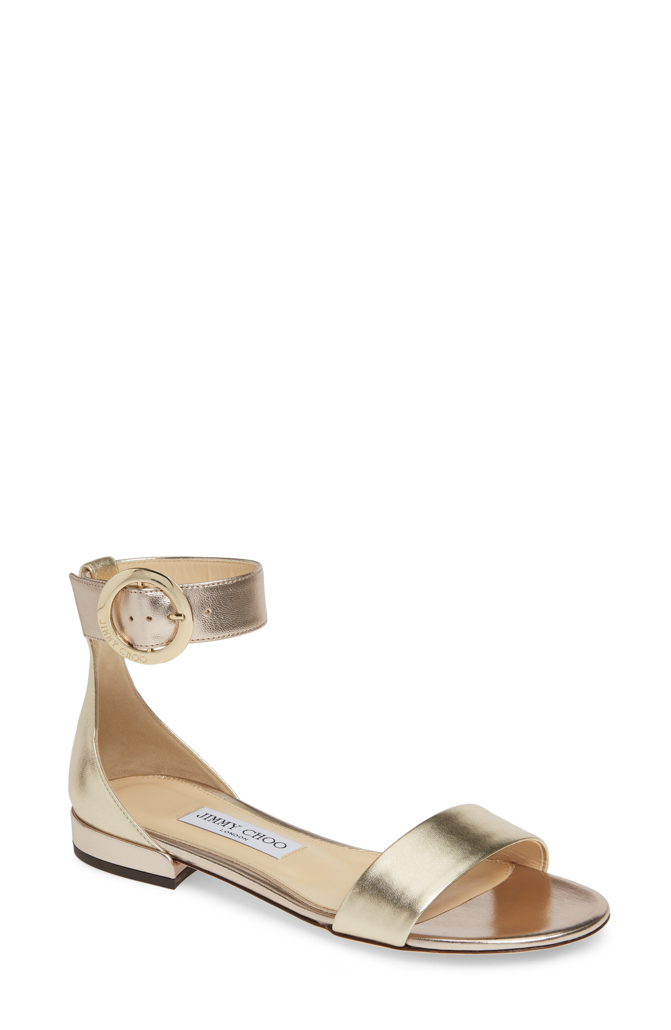 Jimmy Choo Jaimie Ankle Strap Sandal, Metallic