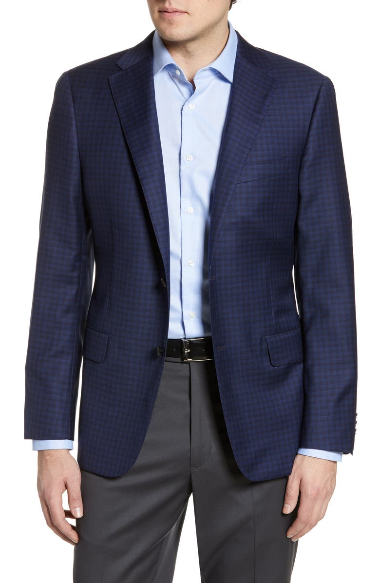 HICKEY FREEMAN Beacon Classic Fit Check Wool Sport Coat, Main, color, 422