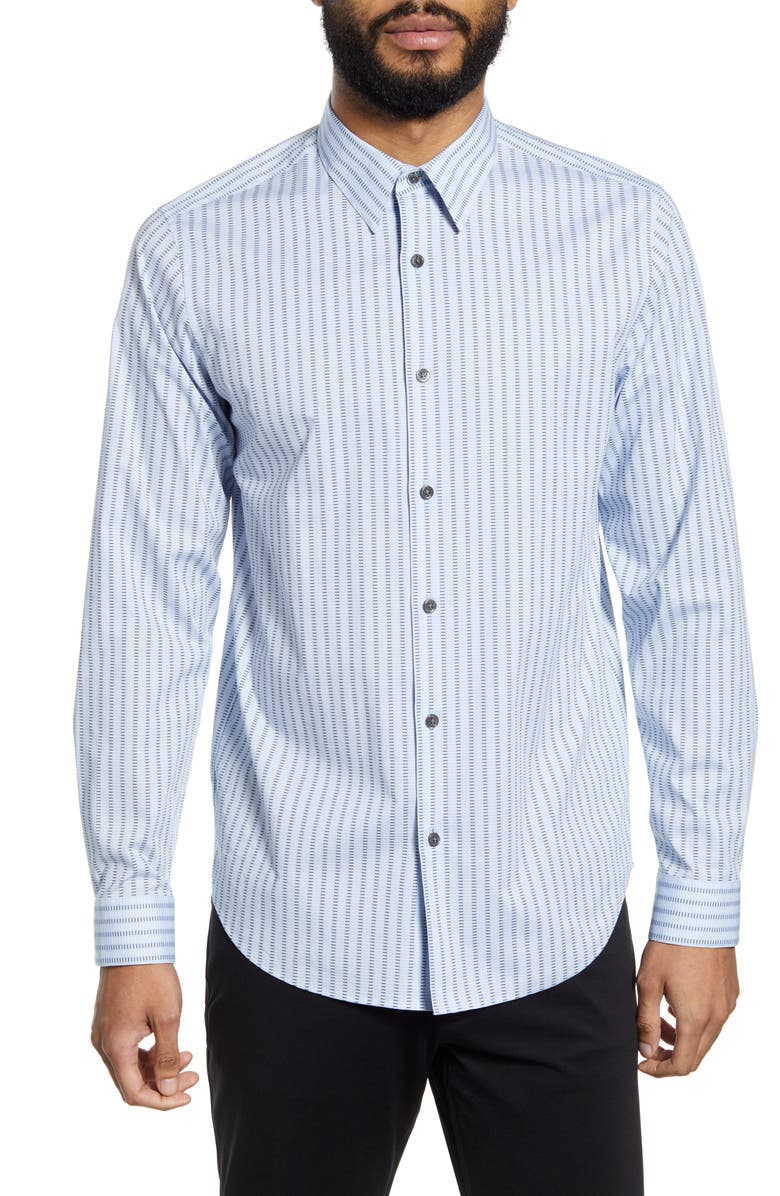 THEORY Irving Dash Button-Up Shirt, Main, color, OLYMPIC MULTI
