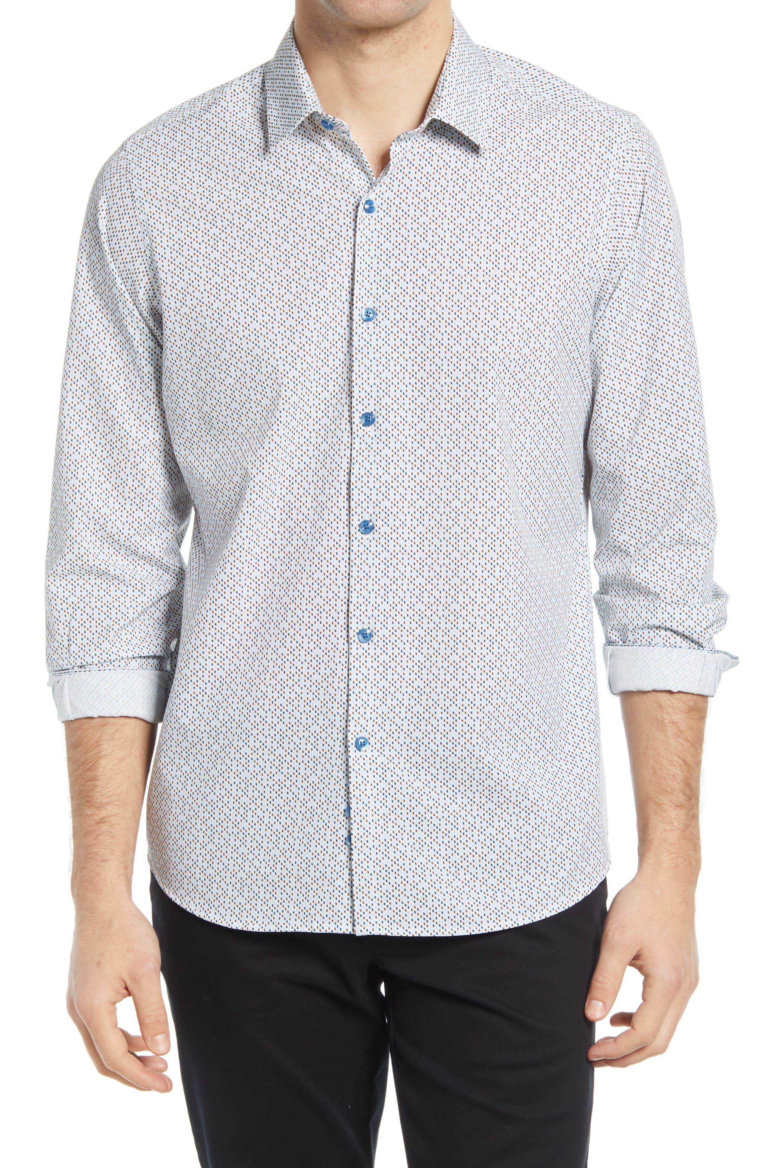 Regular Fit Print Button-Up Shirt