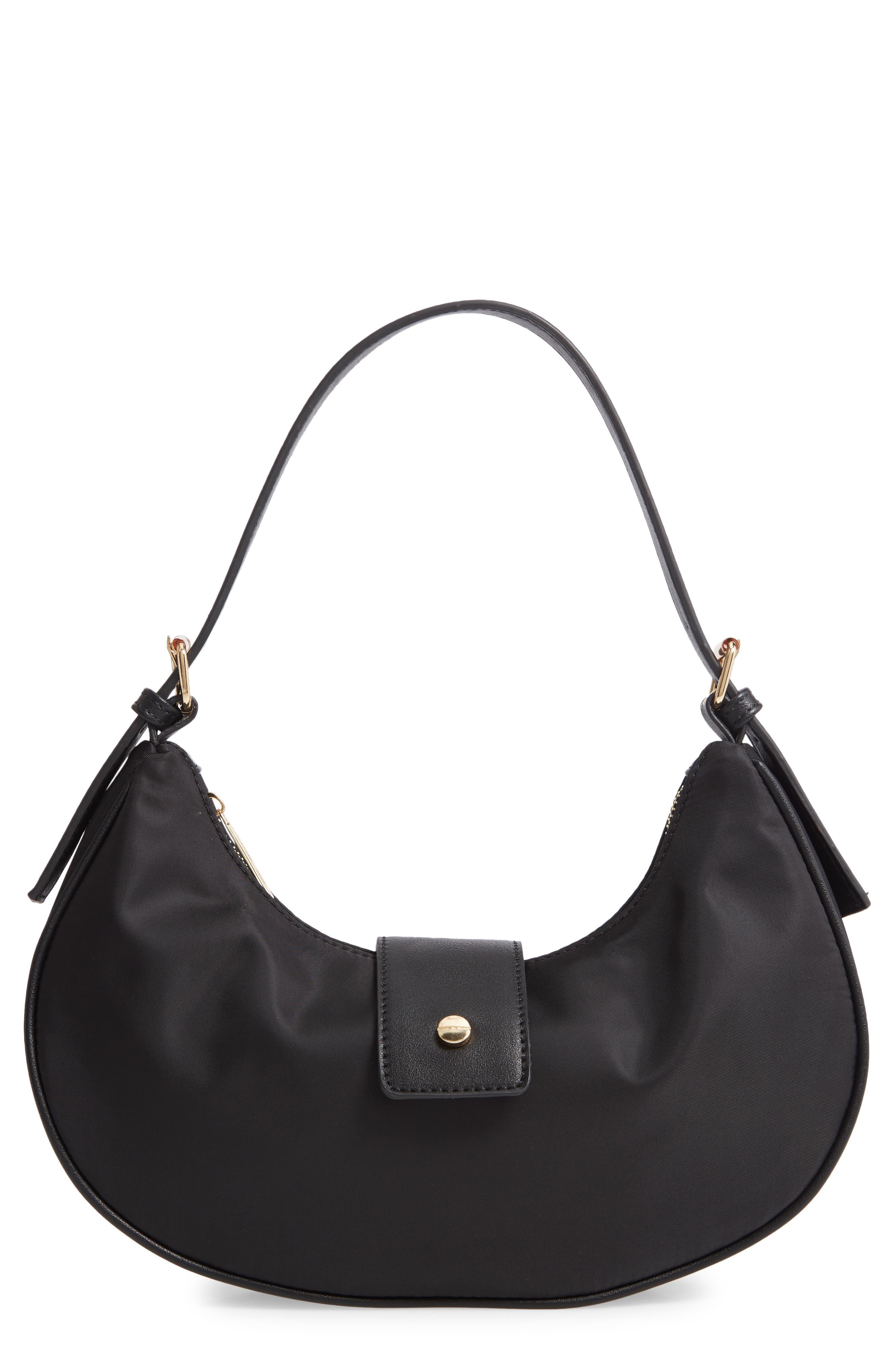 Mali + Lili Flynn Nylon Hobo Baguette Bag