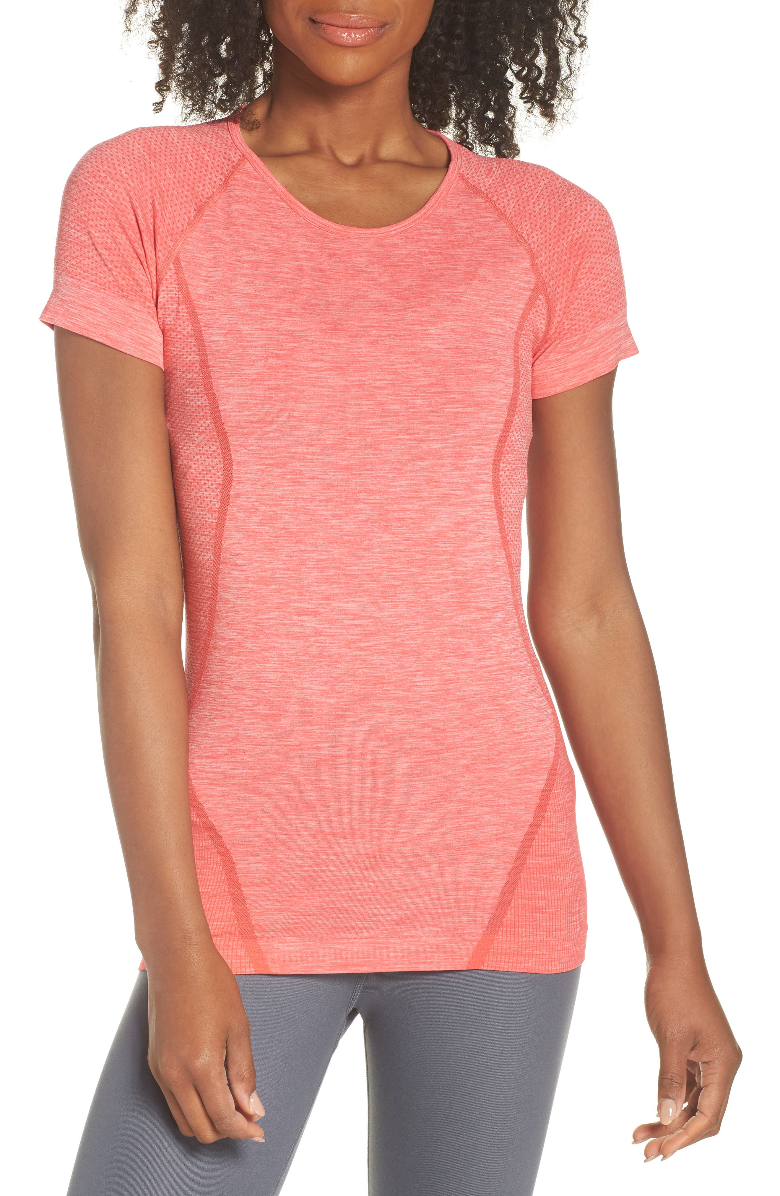 ,                             Stand Out Seamless Training Tee,                             Main thumbnail 38, color,                             611