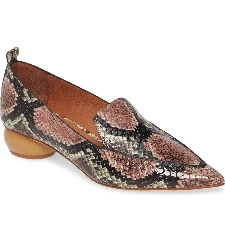 JEFFREY CAMPBELL Viona Loafer, Main, color, YELLOW BROWN SNAKE PRINT