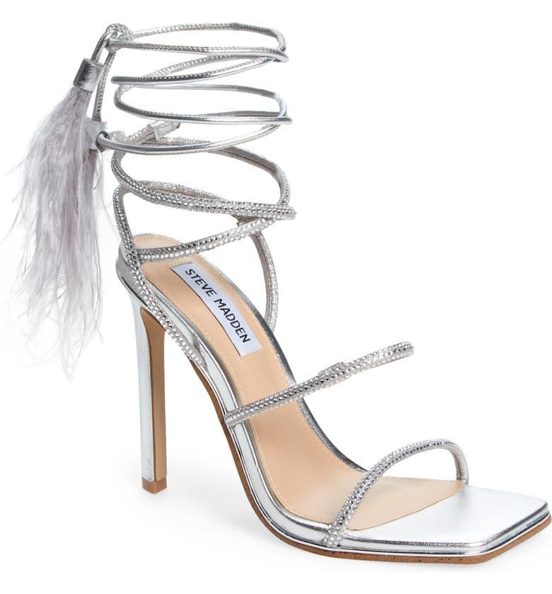 STEVE MADDEN Upgrade Lace-Up Sandal, Main, color, SILVER
