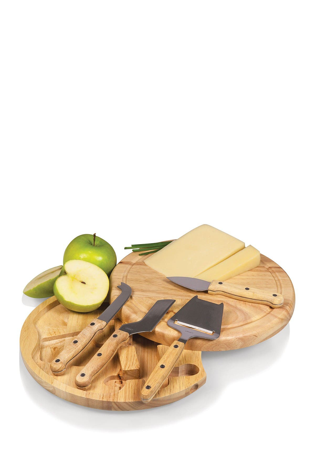 Image of Picnic Time Natural Circo Cheese Board with Tools