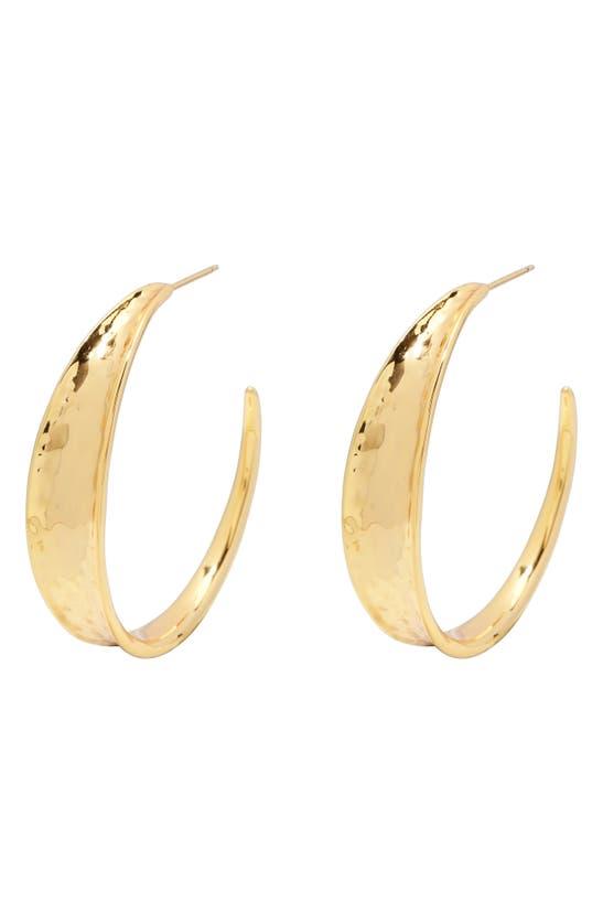 Gorjana Leo Hoop Earrings In Gold