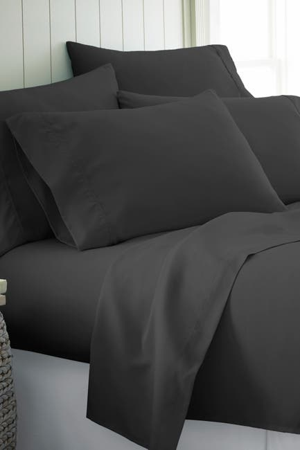 Image of IENJOY HOME Twin Hotel Collection Premium Ultra Soft 4-Piece Bed Sheet Set - Black