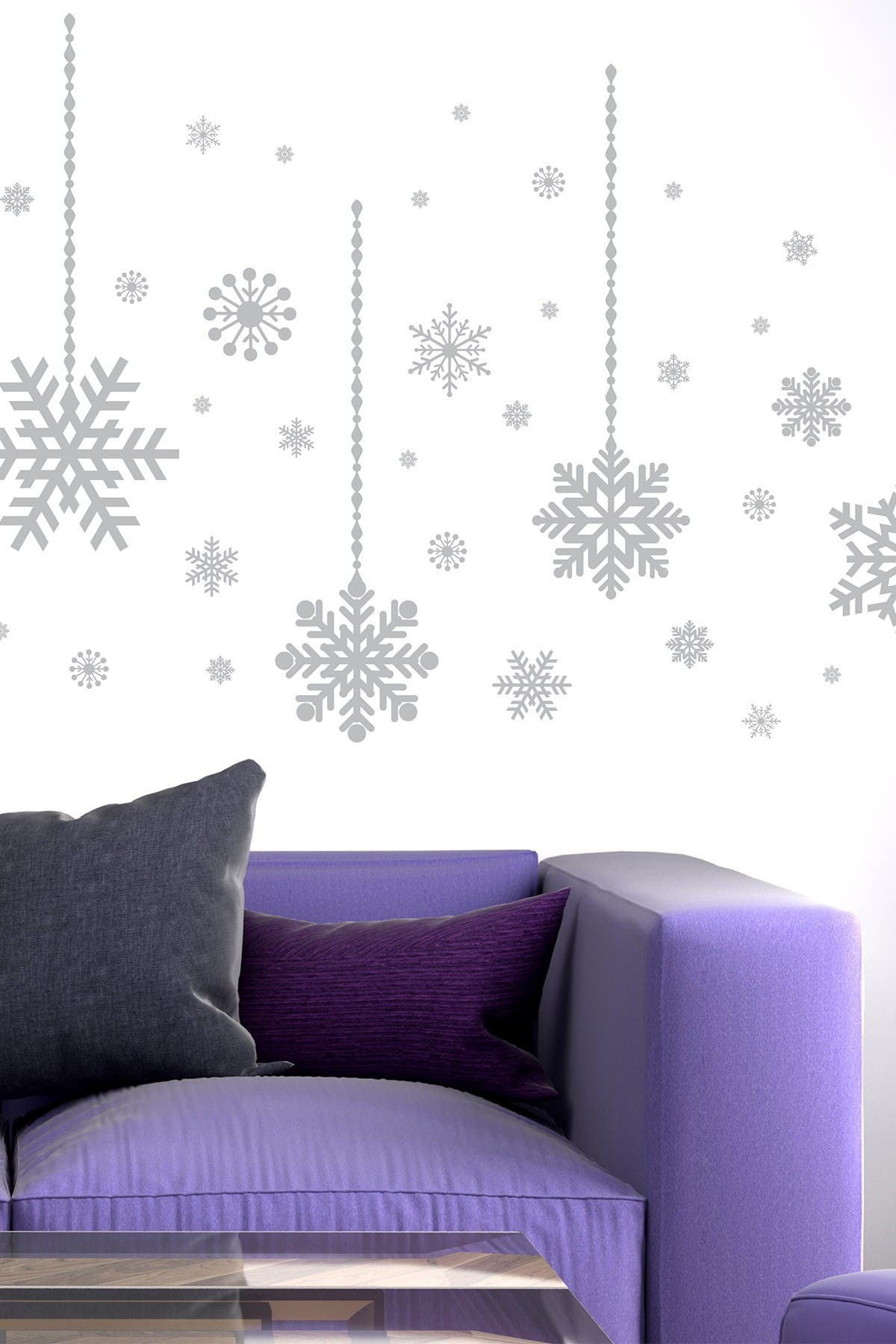 Image of WalPlus Silver Snow Flakes Decal