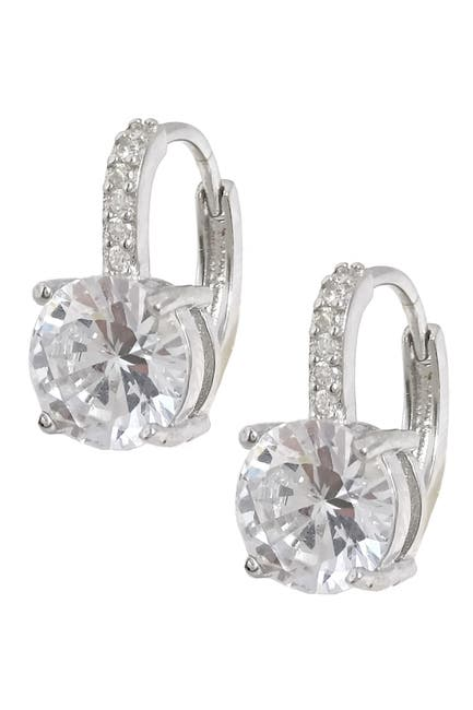 Image of Savvy Cie CZ Leverback Earrings