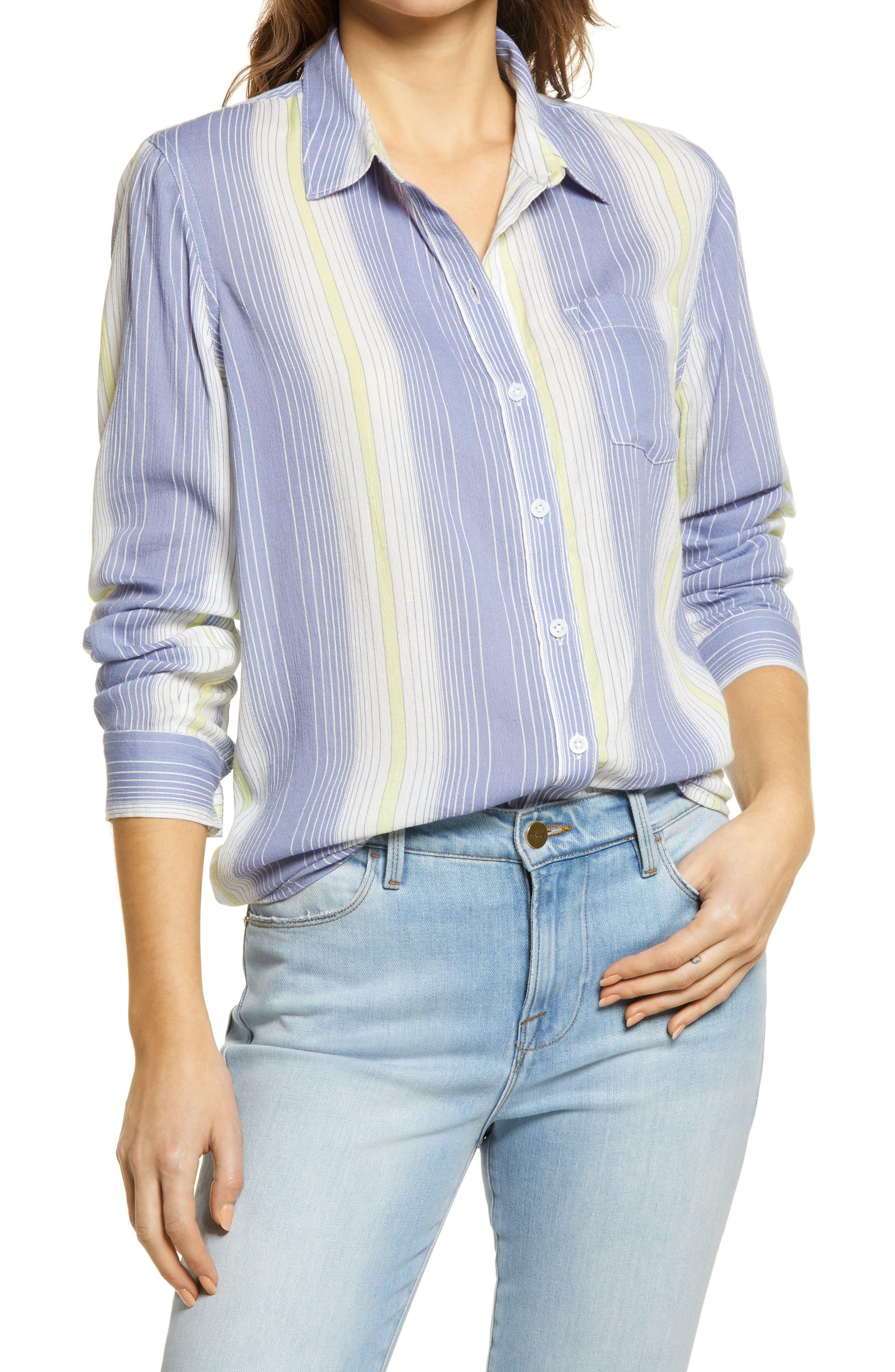Women's Caslon Easy Print Button-Up Shirt