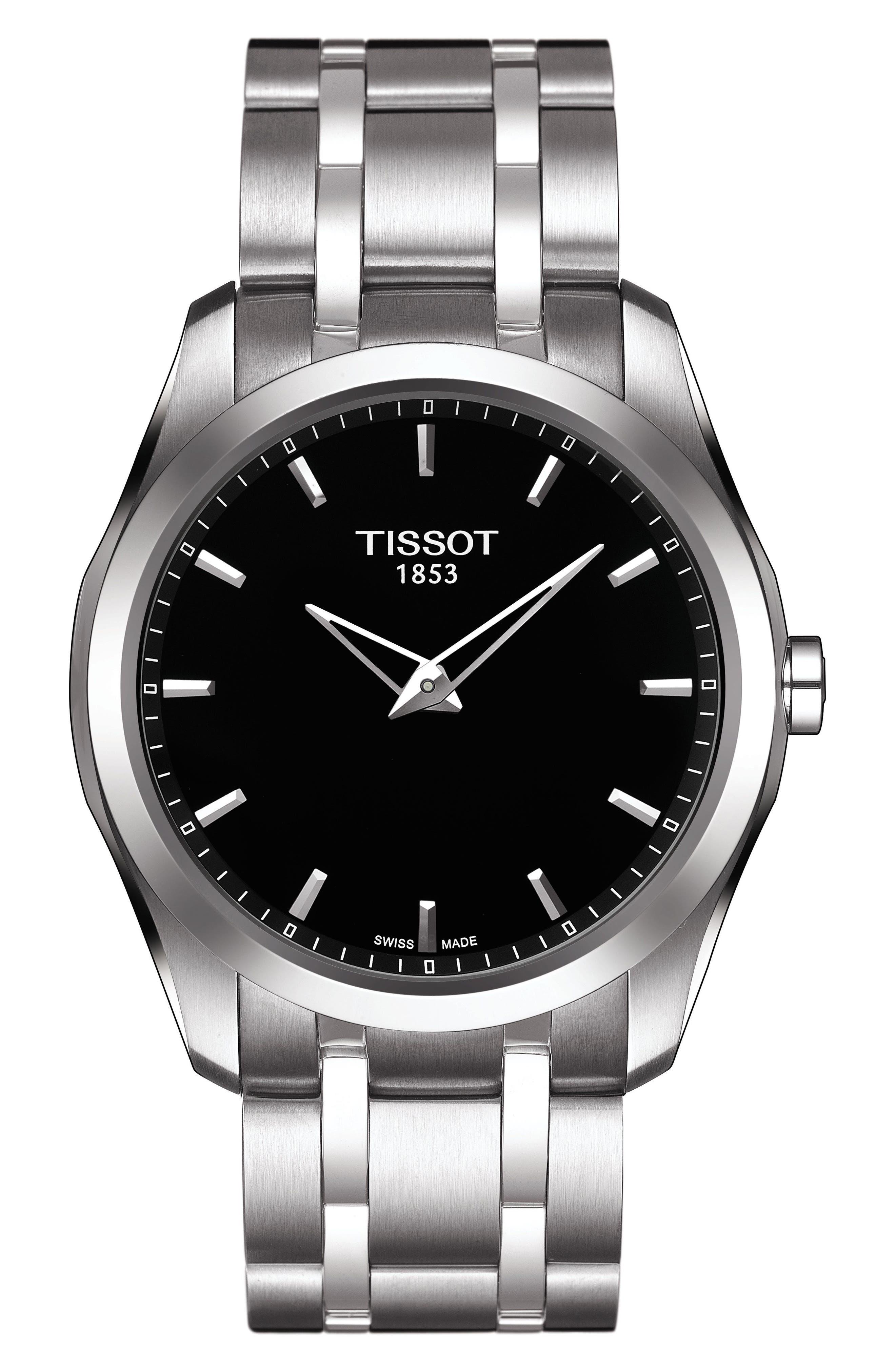 Image of Tissot Men's Couturier Bracelet Watch, 39mm