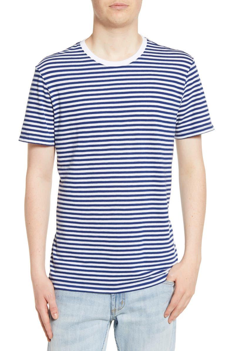 THE RAIL Stripe Ringer T-Shirt, Main, color, BLUE DEPTHS- WHITE STRIPE