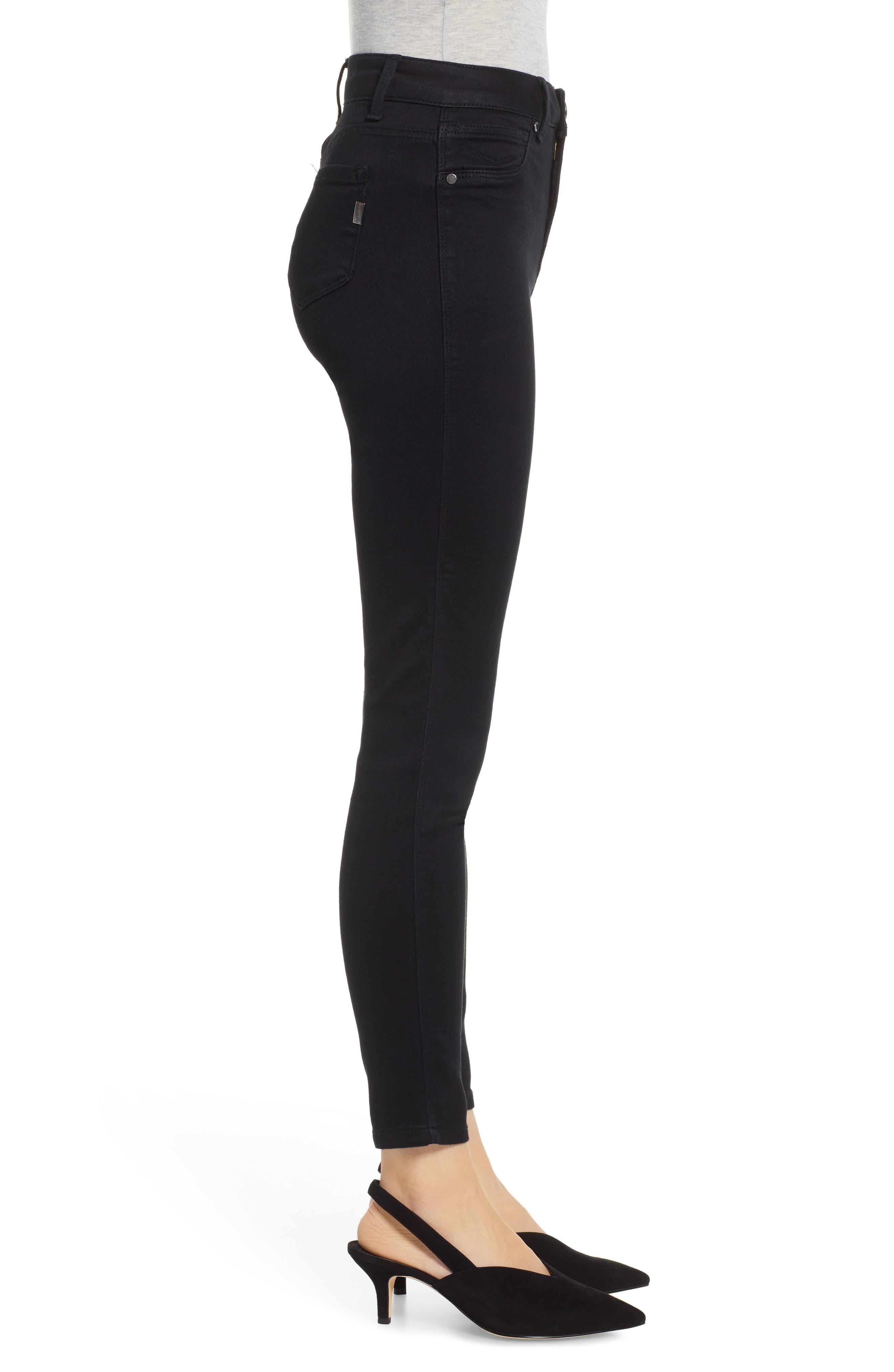 ,                             Butter High Waist Skinny Jeans,                             Alternate thumbnail 4, color,                             BLACK