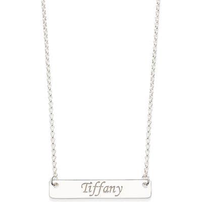 Argento Vivo Personalized Script Bar Pendant Necklace