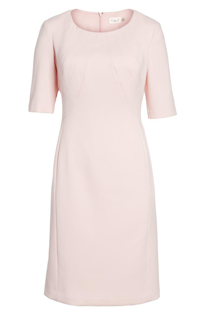 ELIZA J Crepe Sheath Dress, Main, color, 660