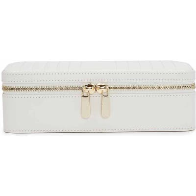 Wolf Maria Zip Rectangle Jewelry Case - White
