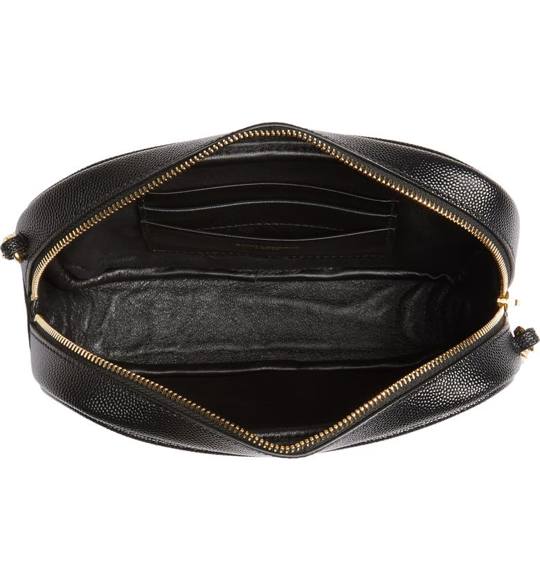 SAINT LAURENT Mini Lou Matelassé Leather Camera Bag, Main, color, 001